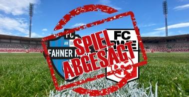 Corona-Fälle: Spieler in Quarantäne, Auswärtsspiel beim FC An der Fahner Höhe abgesagt