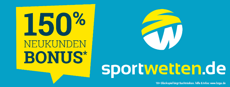 Sportwetten.de 150%-Welcomebonus